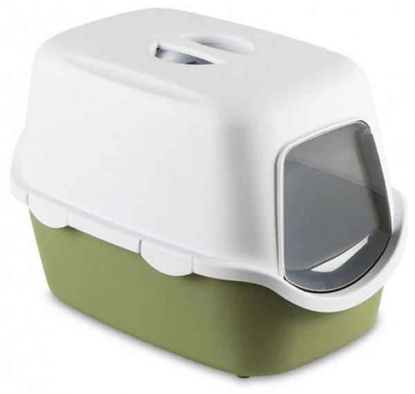 Toaleta pro kočky Cathy Filter, pastelově zelená - kočičí WC s filtrem