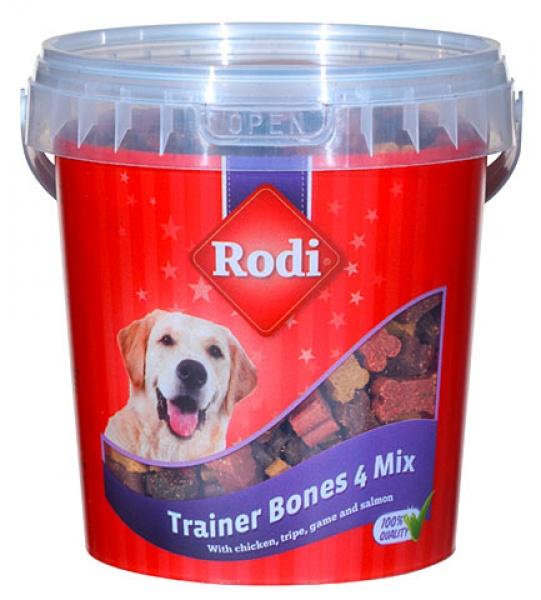 Pamlsky pro psy RODI, 4 druhy, kyblík 450g