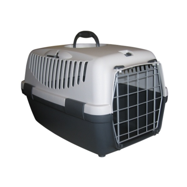 Přepravka pro psy a kočky Gulliver 1, šedá, 48x32x31cm, kovová dvířka