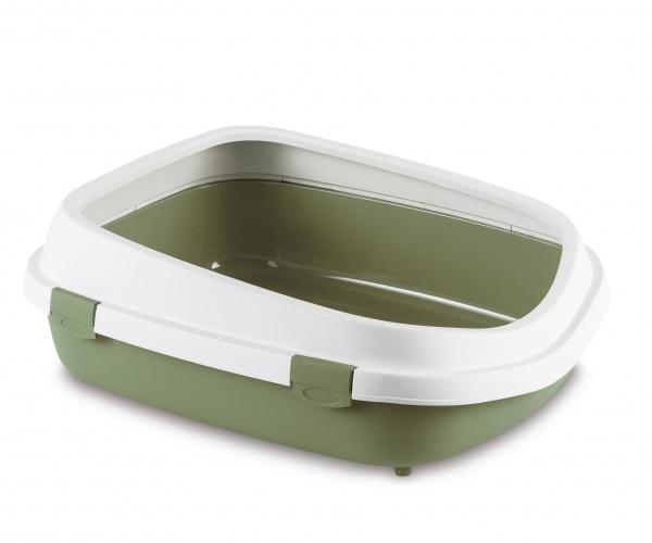 Toaleta pro kočky Queen, pastelově zelená - velké kočičí WC