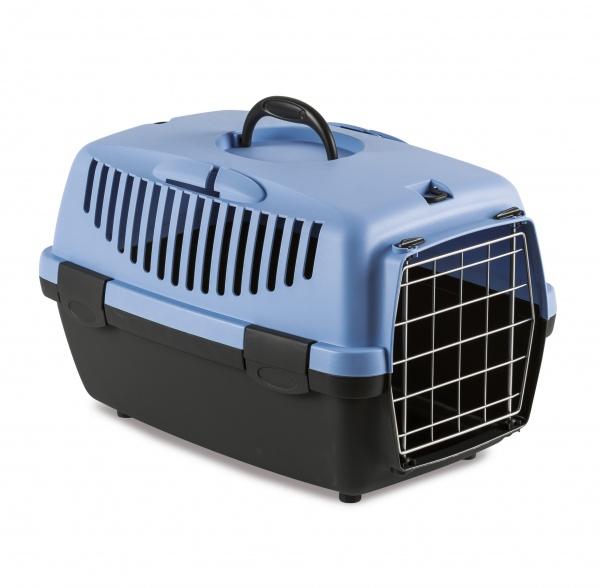 STEFAN PLAST Přepravka pro psy a kočky Gulliver 1, pastelově modrá, 48x32x31cm, kovová dvířka