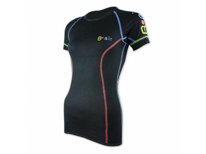 B air funkční tričko dámské kr rukáv simple black