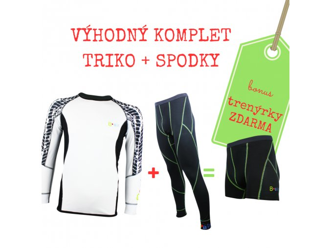 Pánský komplet funkční triko PNEU + spodky = BONUS TRENKY