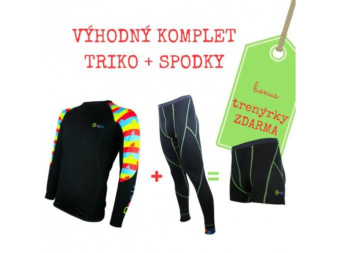 Pánský komplet funkční triko PRUHY + spodky = BONUS TRENKY