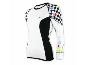 B air funkční tričko dámské dl rukáv šachovnice