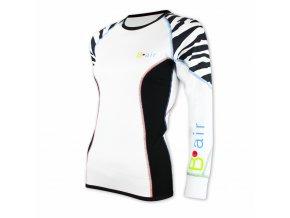 B air funkční tričko dámské dl rukáv tygr