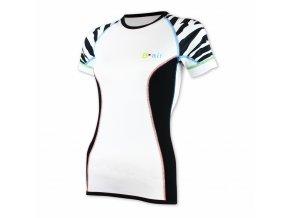 B air funkční tričko dámské kr rukáv tygr