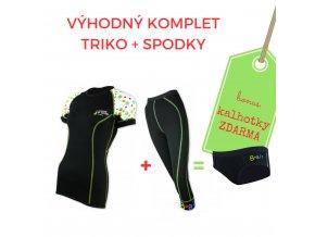 Dámský komplet triko Bezpečně na motorce kr. rukáv + 3/4 spodky = BONUS KALHOTKY