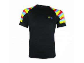 B air funkční tričko pánské kr rukáv Stripes