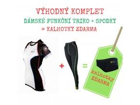 Dámský komplet triko CESTOVATELSKÉ kr. rukáv + 3/4 spodky = BONUS KALHOTKY