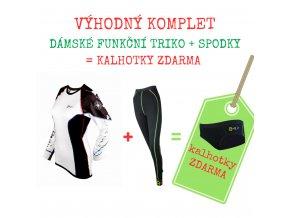 Dámský komplet funkční triko CESTOVATELSKÉ + spodky = BONUS KALHOTKY