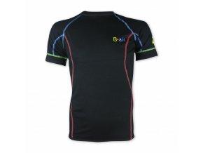 B air funkční tričko pánské kr rukáv simple black