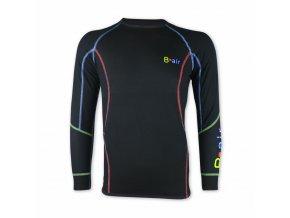 B air funkční tričko pánské dl rukáv simple black