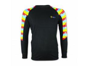 B air funkční tričko pánské dl rukáv Stripes