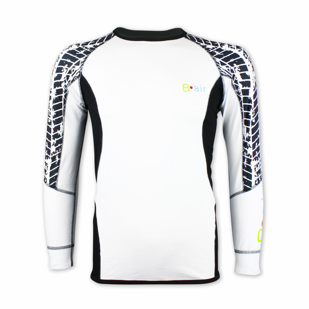 fcf42d75f5f Pánské funkční triko B-air s dlouhým rukávem - bílé