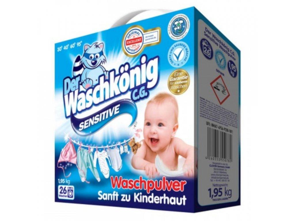 Waschkönig Sensitiv prací prášek pro děti 1,95 kg 26 Dávek