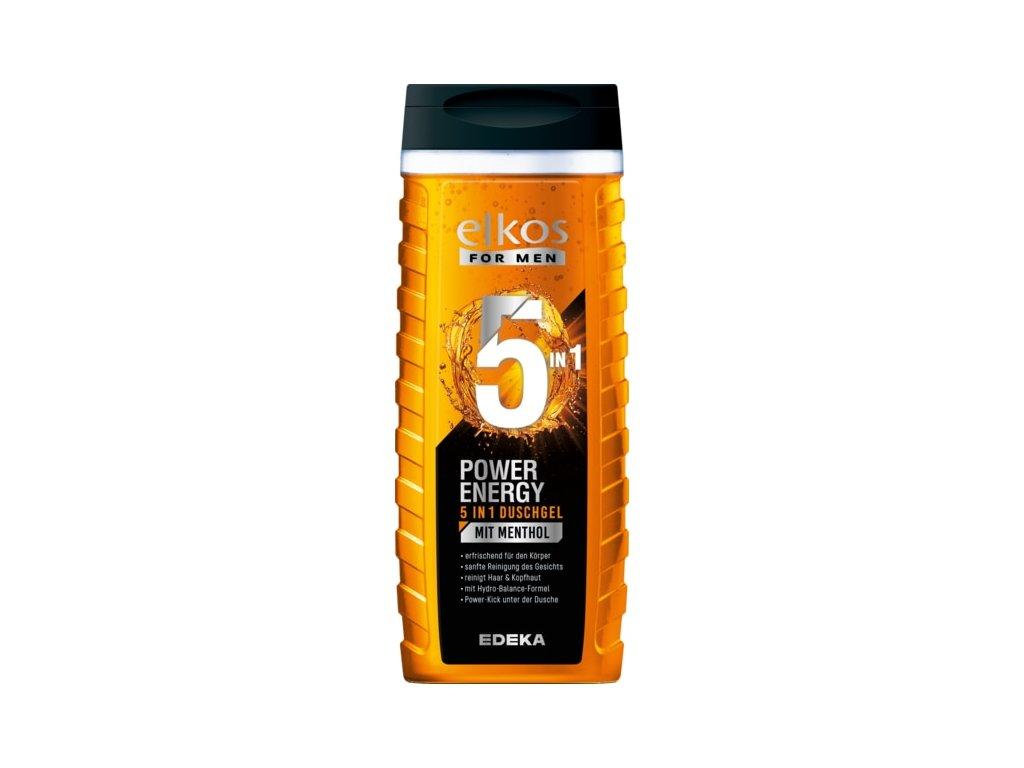 Elkos Men POWER ENERGY 5v1 sprchový gel s mentolem 300ml