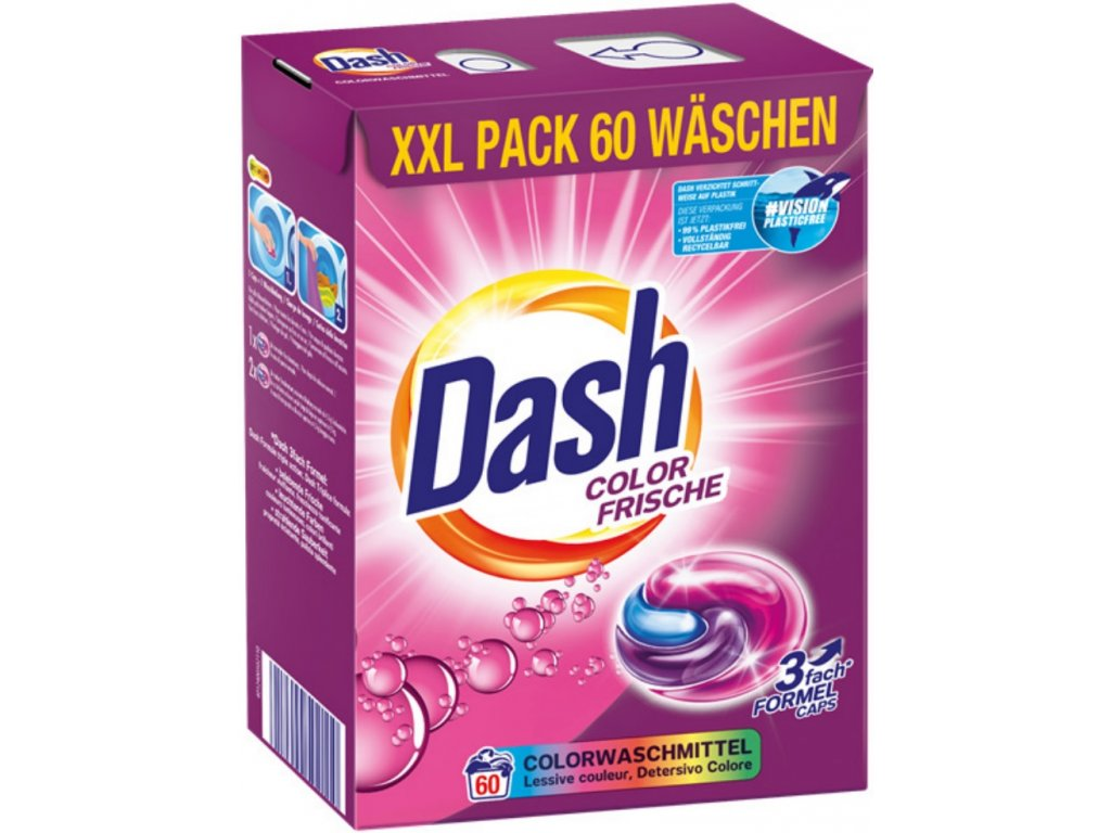 Dash Color Frische kapsle na praní 60 ks