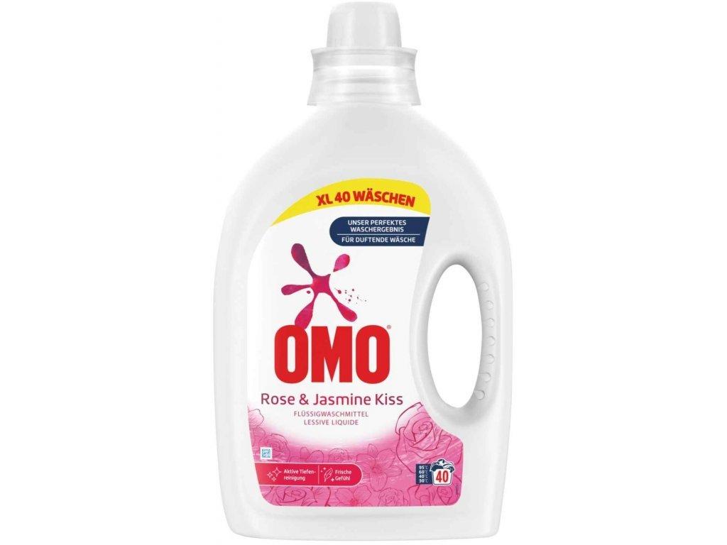 OMO prací gel pro barevné prádlo Rose & Jasmine Kiss, 40 dávek, 2l