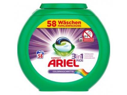 Ariel 3v1 Color gelové kapsle na barevné prádlo 58 ks
