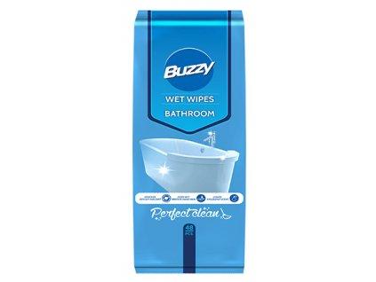 Buzzy Vlhčené ubrousky pro čištění koupelny 48 ks