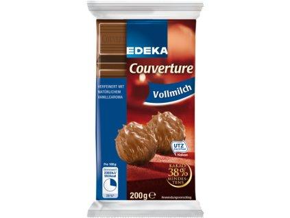 Edeka Mléčná čokoláda na vaření 200g