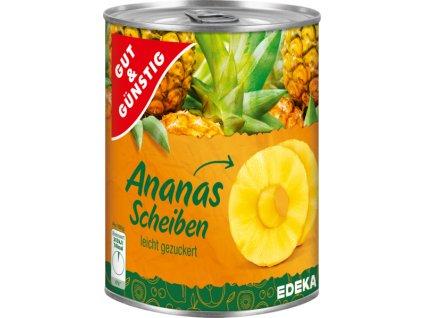 1152 g g ananasove kousky jemne slazene 580ml