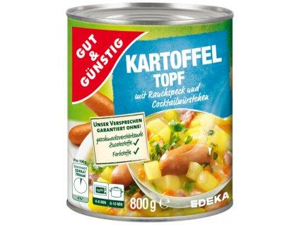2179 g g bramborovy topf s uzenou slaninou a klobaskami 800g
