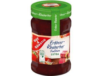 G&G Marmeláda – jahoda, rebarbora 50% ovoce, 450g