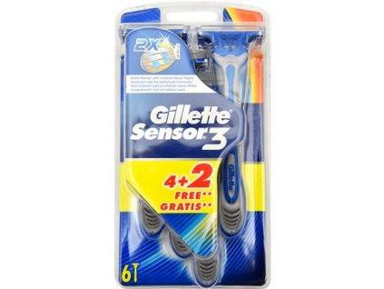 Gillette Sensor 3 pánská holítka 6 ks