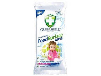 Green Shield Antibakteriální vlhčené ubrousky 50 ks