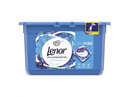 Lenor 3v1 gelové kapsle vodní lilie 14 ks