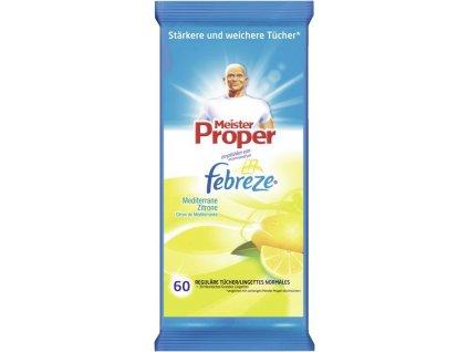 Mr.Proper univerzální čistící ubrousky s vůní citrónu 60 ks