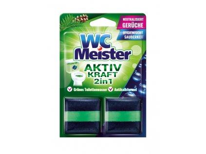 WC Meister 2v1 Speciální kostky do WC nádržky s vůní lesa 2 ks