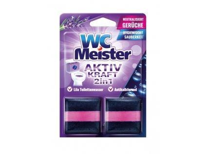 WC Meister Aktiv Kraft 2v1 Lavendel kostky do WC nádržky 2 ks