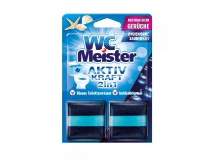 WC Meister 2v1 Speciální kostky do WC nádržky s vůní oceánu 2 ks
