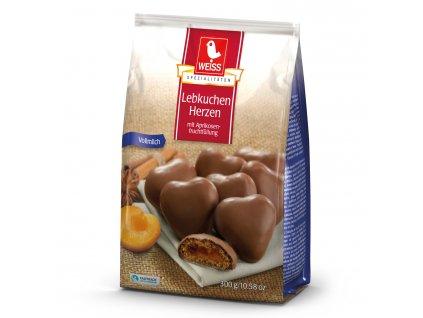 Weiss Perníčky plněné meruňkouvou náplní, mléčná čokoláda 150g