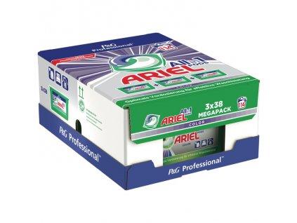 Ariel Professional MEGAPACK kapsle na praní Color 3x38, 114 dávek