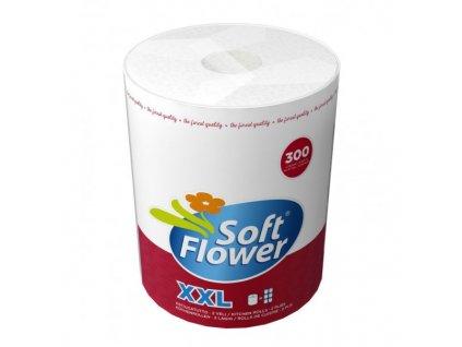 Soft Flower Kuchyňské utěrky 2 vrstvé, XXL Jumbo, 300 útržků, 72m