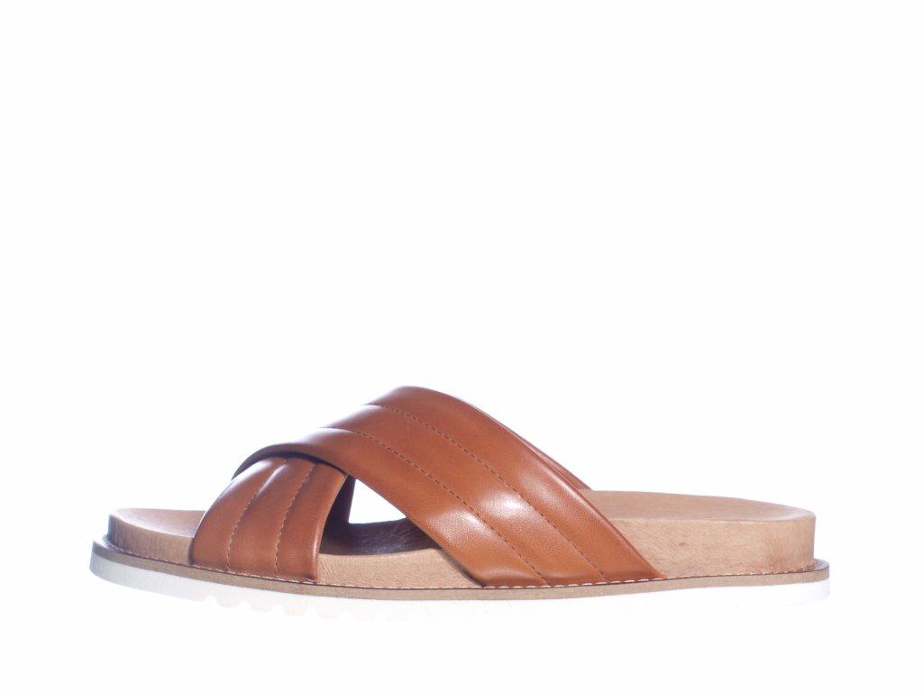 Dámské kožené pantofle švédské značky Ten Points TP 345021 319 (Velikost 41, barva 319 cognac)