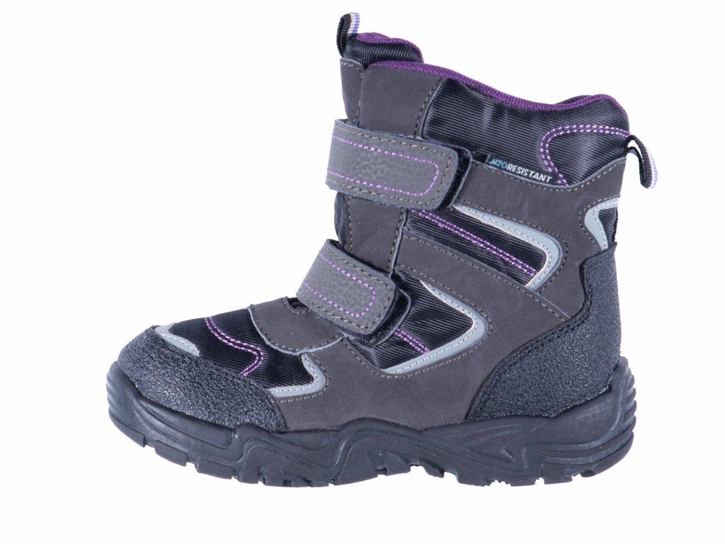 Dětské sněhule značky Junior League L 62/151-072 43 (Velikost 35, barva 43 purple)