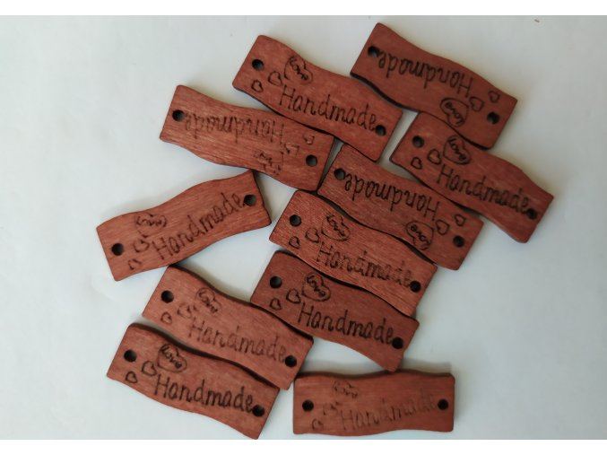 Cedulka hand made 3cm - dřevěná