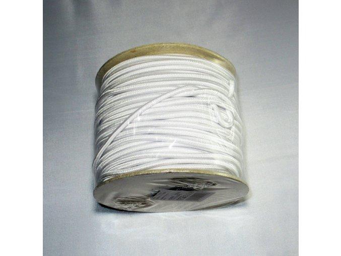 Pruženka bílá kulatá 4mm/50m