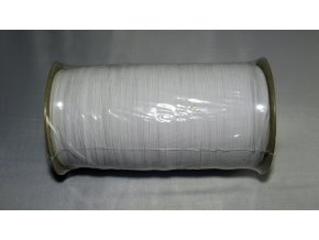 Pruženka bílá plochá 6mm/1m