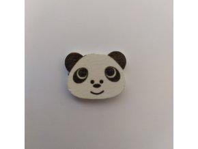 Knoflík dřevěný Panda
