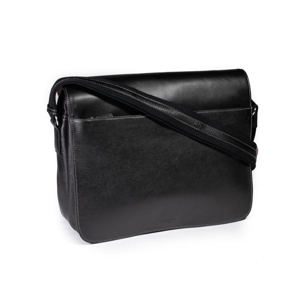 Luxusní kožená pánská taška Hexagona 462699 černá