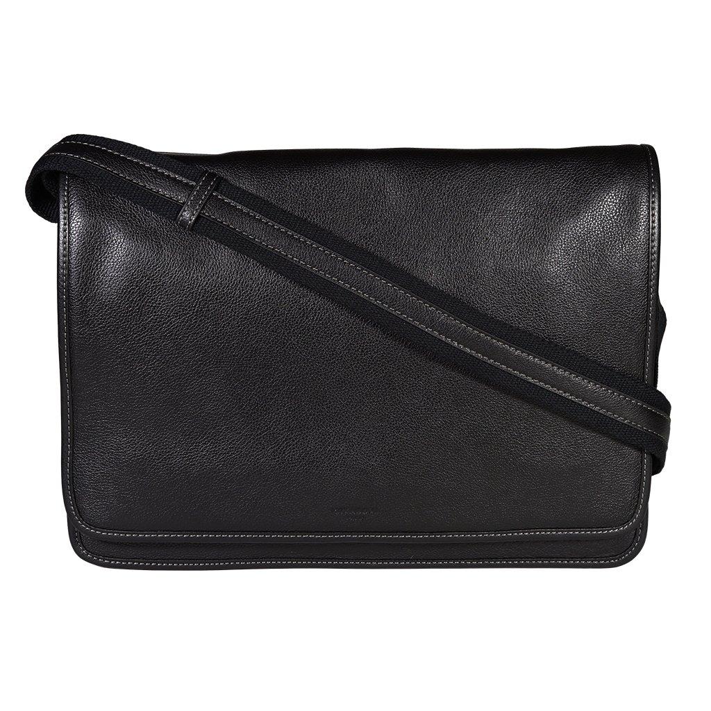 Luxusní kožená pánská taška Hexagona 463795 černá