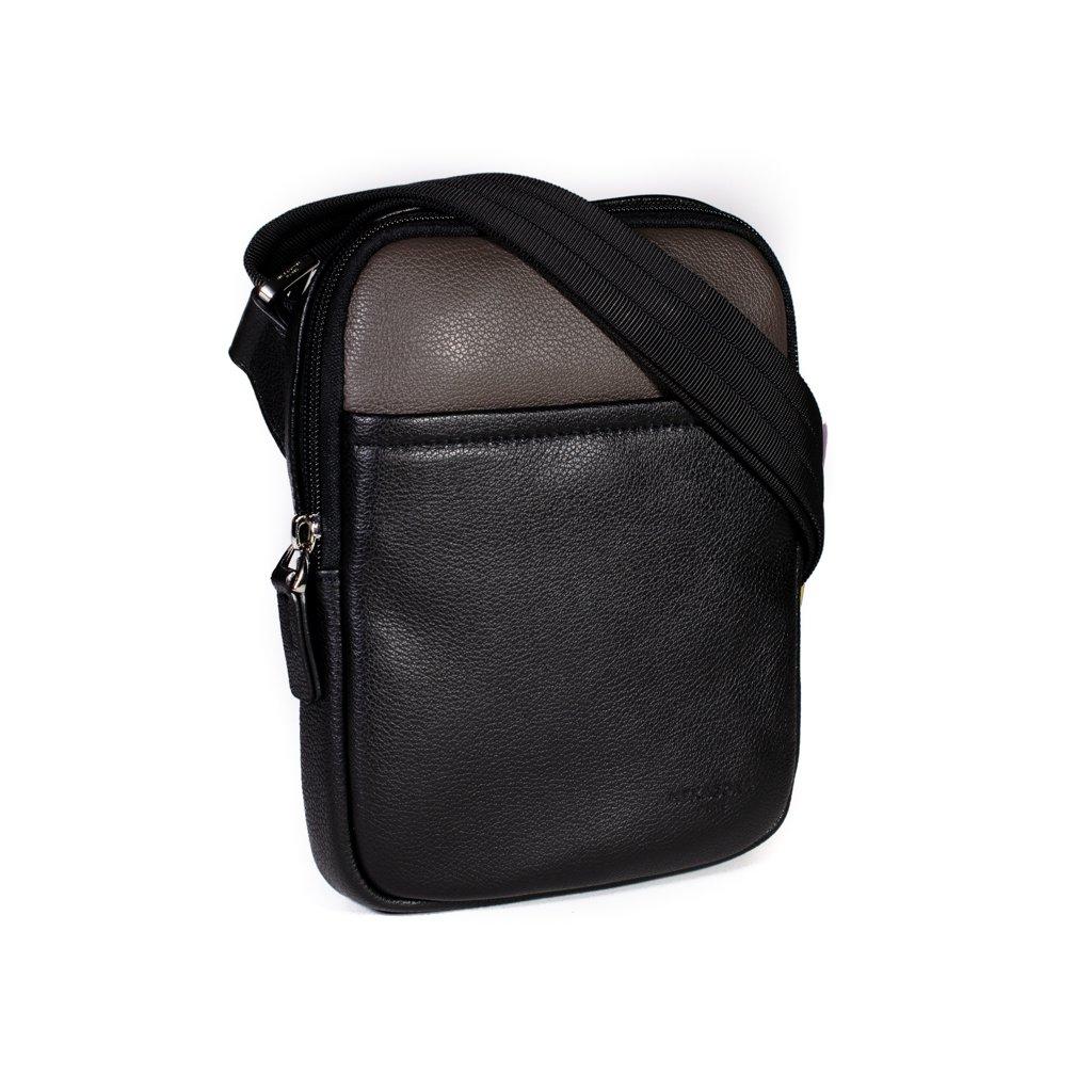 Kožená taška přes rameno Hexagona 686294 černo-šedá (vel. S)