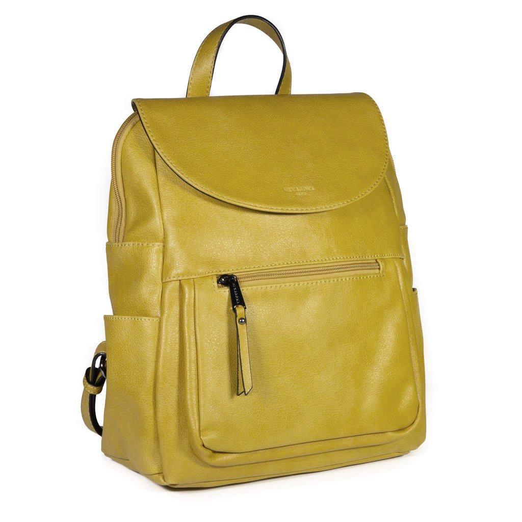 Moderní dámský batoh Hexagona Katrin - žlutý
