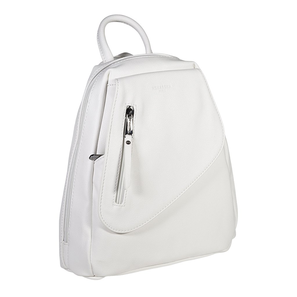 Moderní dámský batoh Hexagona Framboise - bílý